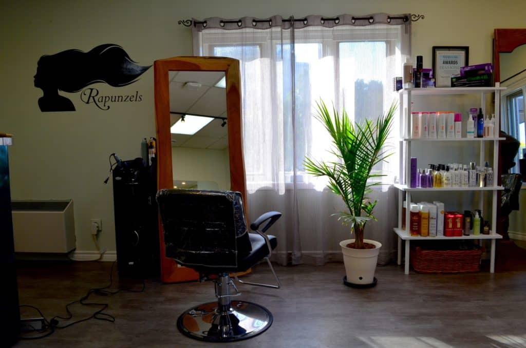Rapunzels Hair Salon Nov 2020 interior